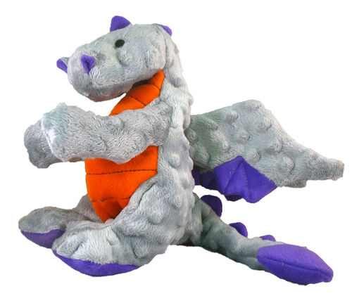 Grey Dragon Squeaky Dog Toy