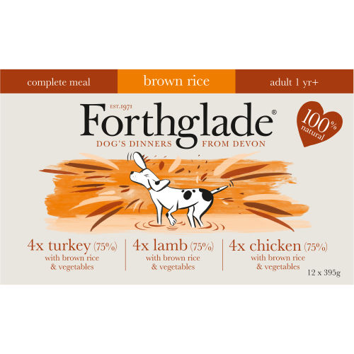 Forthglade Complete Turkey, Lamb & Chicken with Brown Rice - Multicase (395g)