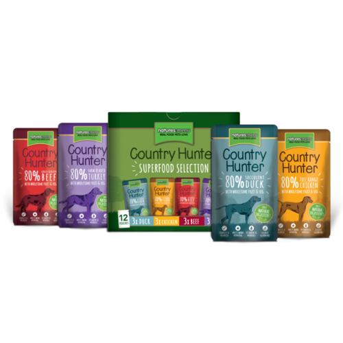 Natures Menu Country Hunter Pouches - Superfood Selection Multipack for Dogs