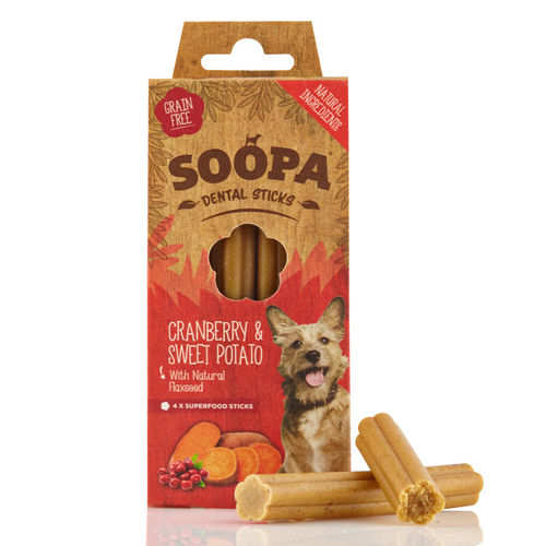 Soopa Dental Sticks Cranberry & Sweet Potato