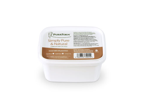 PurrForm Minced Farmed Rabbit with Ground Bone Tub 450g (Adult Cat)