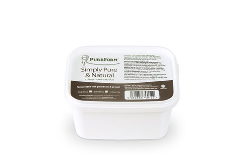 PurrForm Minced Farmed Rabbit & Ox Heart Tub 450g (Adult Cat)
