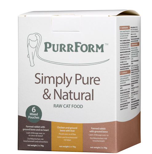 PurrForm Mixed Box 002 (FR,CL,FRO) - 6 x 70g Complete Pouches (Adult Cat)