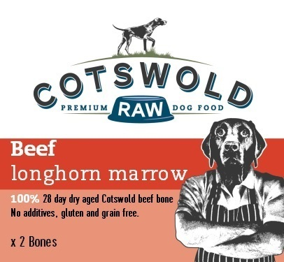 Cotswold Raw - Beef Longhorn Marrow Bone (2 Bones) *Collection Only*