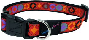 Hem and Boo Dog Collar - Diamond Circles