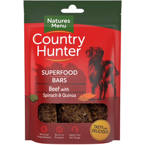 Natures Menu Superfood Bars - Beef with Spinach & Quinoa