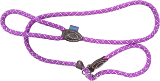 Dog & Co Mountain Rope Slip Lead - Purple / Mint 150cm