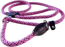 Dog & Co Mountain Rope Slip Lead - Pink / Navy 150cm