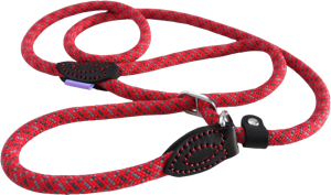 Dog & Co Mountain Rope Slip Lead - Red / Grey 150cm