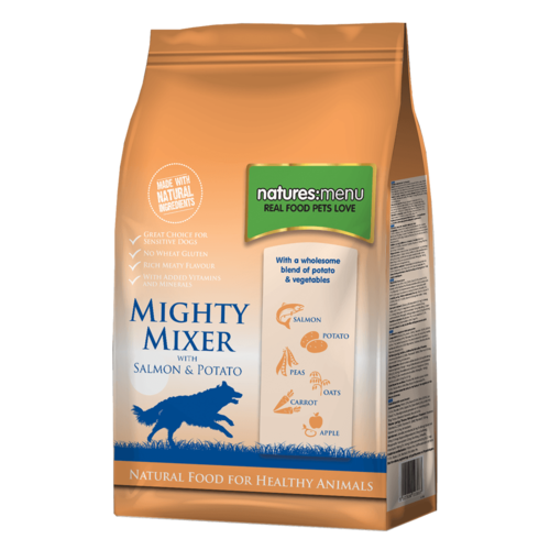 Natures Menu - Mighty Mixer Biscuit with Salmon & Potato 2kg