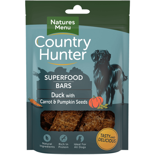 Natures Menu Superfood Bars - Duck with Carrot & Pumpkin Seeds