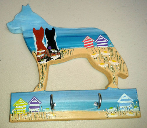 Two Blue Dogs Designs - Lead Hanger (Design 1)