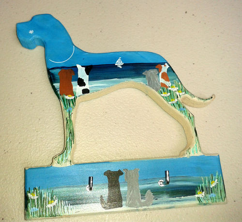 Two Blue Dogs Designs - Lead Hanger (Design 2)