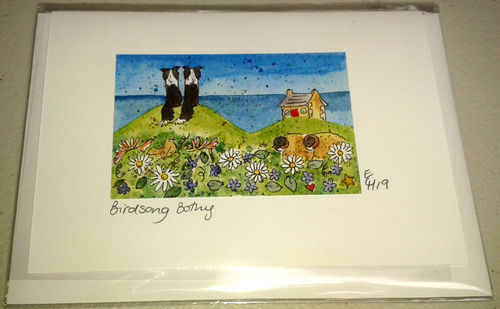Two Blue Dogs Designs Greeting Card - Birdsong Bothy