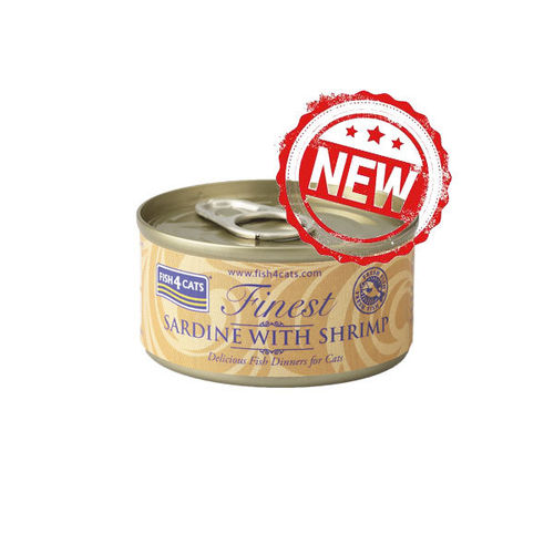 Fish4Cats Finest Sardine with Shrimp 70g Tin