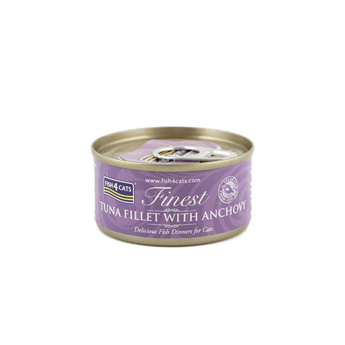 Fish4Cats Finest Tuna Fillet with Anchovy 70g Tin