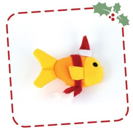 Beco Catnip Christmas Fish Toy for Cats