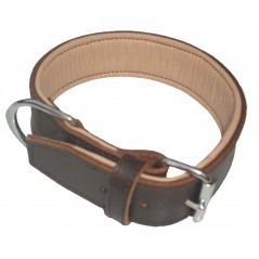 Outhwaite Padded Leather Collar (Brown / Natural)