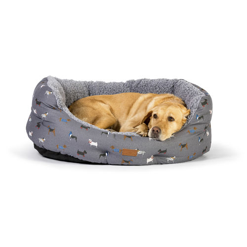 Fatface Deluxe Slumber Dog Bed - Marching Dogs