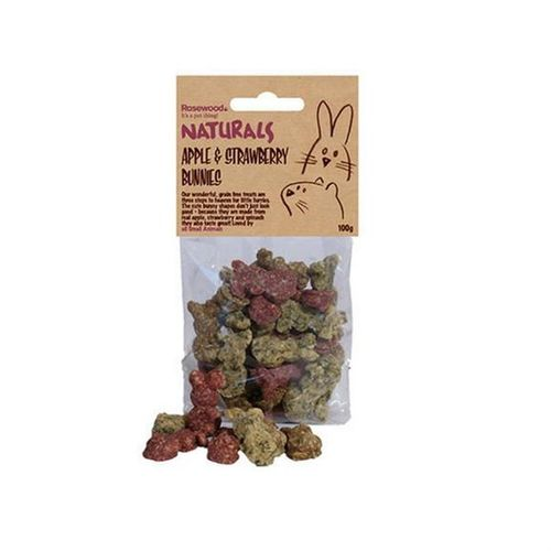 Rosewood Naturals - Apple & Strawberry Bunnies 100g